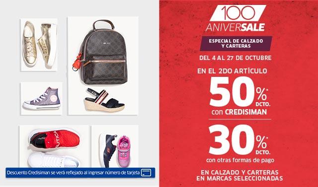 ANIVERSALE | FESTIVAL DE CALZADO | 50% CS / 30% OFP EN EL SEGUNDO