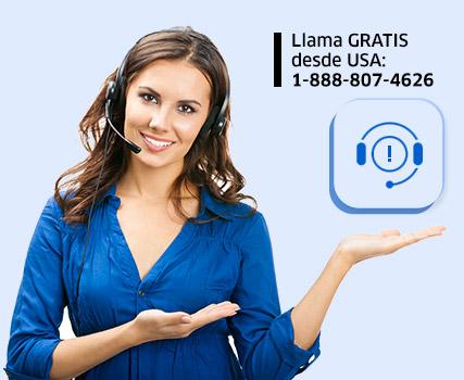 Llama Gratis desde USA 1-888-807-4626