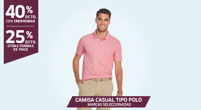 CAMISA CASUAL, TIPO POLO